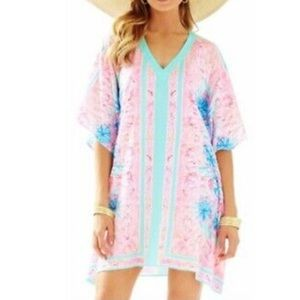 NWT Lilly Pulitzer Thea Caftan V Neck Cover Up